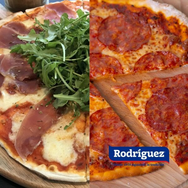 Pizza de chorizo o jamón Rodríguez